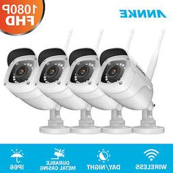 ANNKE 1/ 4pcs 1080P Wireless Security IP Camera Bullet Night