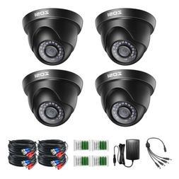 ZOSI 4PK 720p 4in1 Outdoor CCTV Security Camera 3.6mm Lens 6