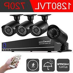 IHOMEGUARD 960H 4 channel Dvr  Security Camera System,4x Sur