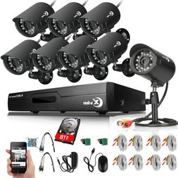 XVIM 1080P HDMI 8CH CCTV DVR 2MP HD Outdoor IR Night Securit