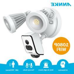 ANNKE 1080P 2MP Floodlight Camera WIFI Security Siren Alarm