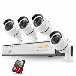 ZOSI 4CH 1080P POE NVR Home Security Camera System Outdoor 1