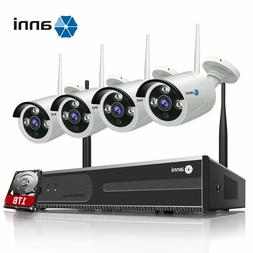 SmartSF Wireless 4CH 1080P NVR Security Camera System Outdoo