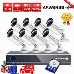 1080P 8CH  8CAM HDMI DVR 2.0 Megapixel Video Home Security C