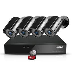 TMEZON 1080P CCTV Camera 4CH HDMI 1080N DVR Home Outdoor Sec
