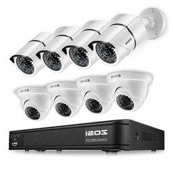 ZOSI 1080p HD-TVI Home Surveillance Camera System,8 Channel/