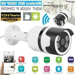 WIFI 1080P HD IP Camera Wireless ONVIF P2P Outdoor Home Secu