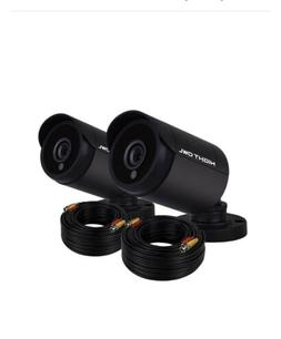 1080p hd wired bullet cameras 2 pack