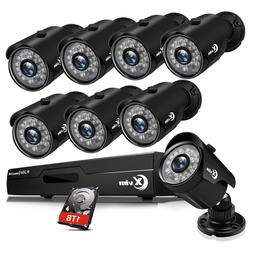 XVIM 1080P HDMI 8CH CCTV DVR 2000TVL Outdoor IR Night Securi