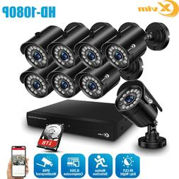 XVIM 1080P HDMI 8CH CCTV DVR 2MP HD Outdoor IR Night Securit