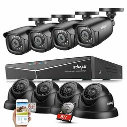 SANNCE 1080P HDMI 8CH DVR 1500TVL IR Outdoor CCTV Security C