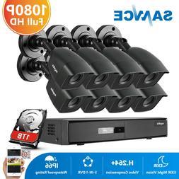 SANNCE 1080P HDMI 8CH/4CH CCTV DVR 720P Outdoor IR Home Secu