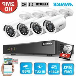 ANNKE 1080P Lite 4CH DVR Full HD 2MP CCTV Security Camera Sy