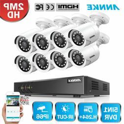 ANNKE 1080P Lite 8CH DVR 8x 2MP Video CCTV Security Camera S