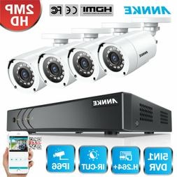 ANNKE 1080P TVI 5in1 8CH DVR Full 2MP Home Surveillance Secu