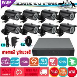 1080P Wireless Security Camera System 8CH AHD DVR + 8 Wifi S