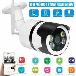 1080P Wireless WiFi IP Camera Home Outdoor Security Night Vi