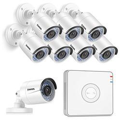 ANNKE 8-Channel 1080P HD sPOE NVR Surveillance Video System