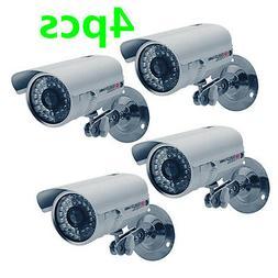 4X 1200TVL Hi Resolution CCTV Surveillance Security Outdoor