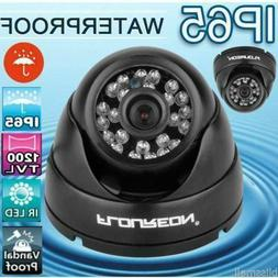FLOUREON 1200TVL IP65 IR-CUT Outdoor Dome CCTV Security Came