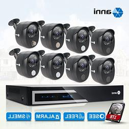 anni 16-Channel Security Camera System 1080N Digital Video R