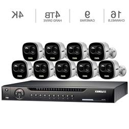 Lorex 16-Channel 9 4K UHD Cameras with 4TB HDD NVR Surveilla