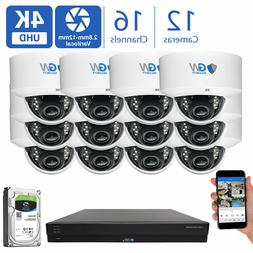 16 Channel Security Camera System 2TB DVR  8MP CCTV Varifoca