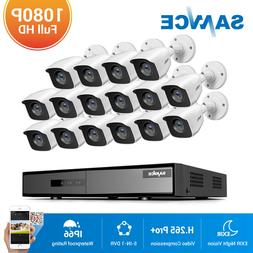 SANNCE 16CH 1080N TVI DVR 1080P Dome IR LED Night CCTV Secur