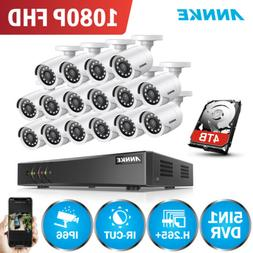 ANNKE 16CH 1080P Lite DVR 2MP Video Outdoor CCTV Security Ca