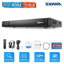 ANNKE 16CH 6MP Network Security HDMI NVR H.264+ Video Compre