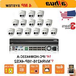 Dahua 16CH NVR Security System 4MP IP Cameras CCTV Kit HD PO