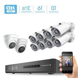 Amcrest HD 720P 16CH Video Security System - Ten 1280TVL 1.0