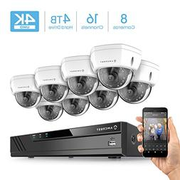Amcrest 16CH 4K Security Camera System w/ 4K  NVR,  x 4K  IP