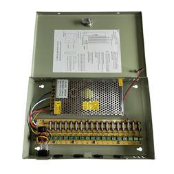 18CH Security Camera Power Supply Box DC 12V 10A Distributio