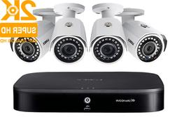 Lorex 1TB 4CH Security Camera System 4 HD Night Vision 2K Ca