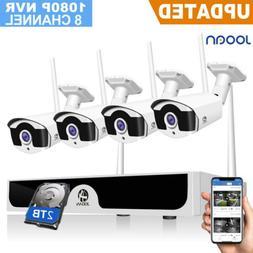 JOOAN 1TB Wireless Security System 8CH 1080P NVR Camera Kits
