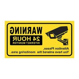 JOOAN 1X Warning Sign Sticker CCTV Security Sticker Decals P