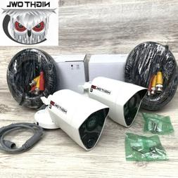 2 Night Owl 5 MP HD 5.0 UHD White Bullet Security Video Came