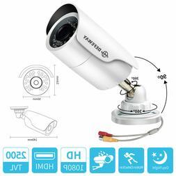 2 Pcs DEFEWAY 1080P AHD Vison Outdoor Bullet Camera for secu