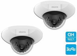 2 x Zmodo 720p sPoE Dome IP Camera ZM-SS76D001-S Male MicroU