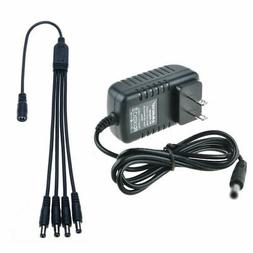12VDC 2A 2000mA Security Camera Power Supply Adapter & Split