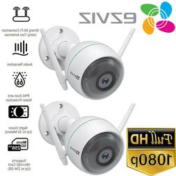 2x EZVIZ 1080p Outdoor WiFi Camera Weatherproof Smart Motion
