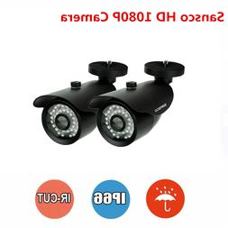 2x Home Outdoor 1080P 2MP Night Vision Bullet Cameras For CC