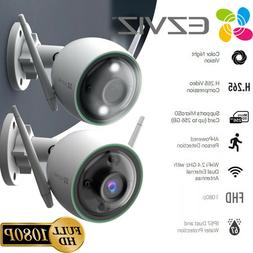 2x EZVIZ Outdoor Security Camera WIFI 1080P Smart Colored Ni