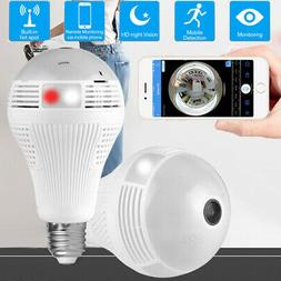 360°Bulb Camera Security Mini Wireless Lamp Cameras Fisheye