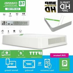 EZVIZ 3MP 16CH 3TB HDD DVR Motion Detec Smart Home Security