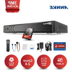 ANNKE 3MP 4CH 5in1 DVR Security System Smart Search NO/ 1TB