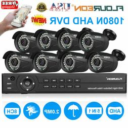 8CH 1080N AHD DVR 8X 3000TVL 1080P Home Surveillance Securit