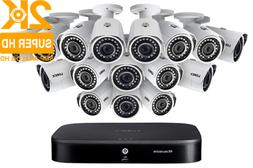 LOREX 2K Super HD 16-Channel Security System with Sixteen 2K