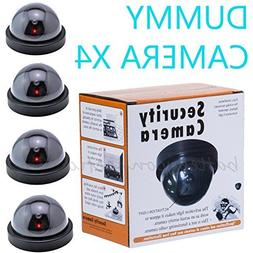 4 Fake Dummy Dome Surveillance Security Camera with LED Sens